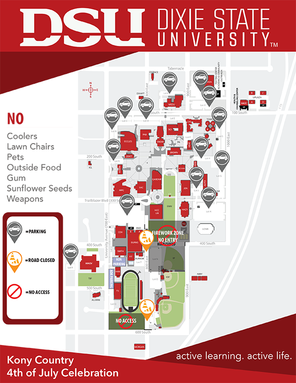 dixie state university campus map Dixie State University Campus Map Showing Venue Rules Dixie dixie state university campus map