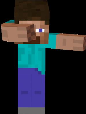 Steve Transparent Dabbing Minecraft Steve Dabbing Full Size Png Download Seekpng