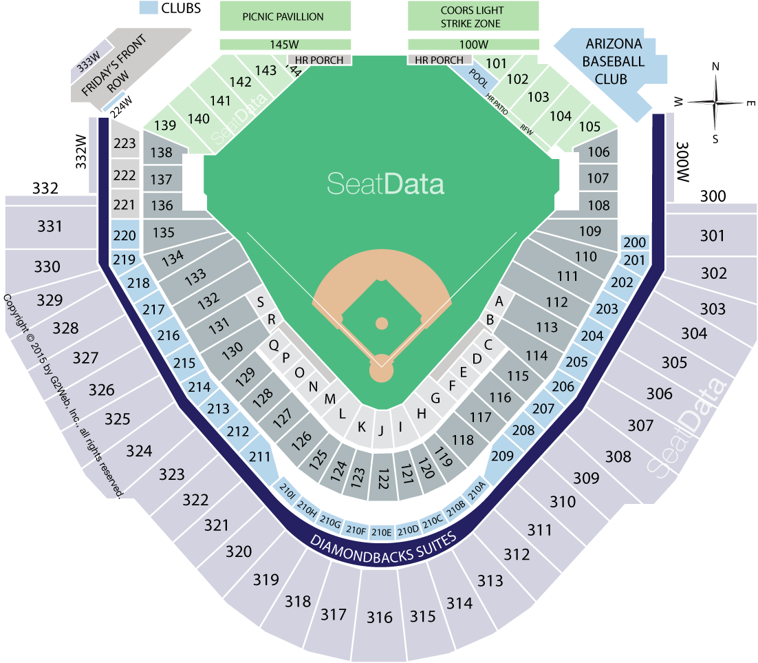 Chase Field Seating Chart Row