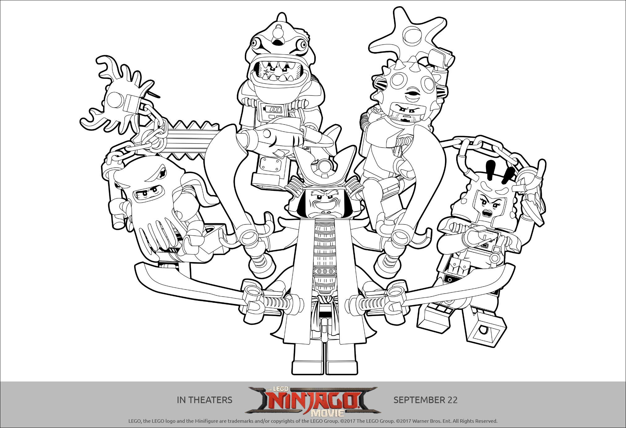 Lego Ninjago Printables Lego Ninjago Movie Coloring Pages Full Size Png Download Seekpng