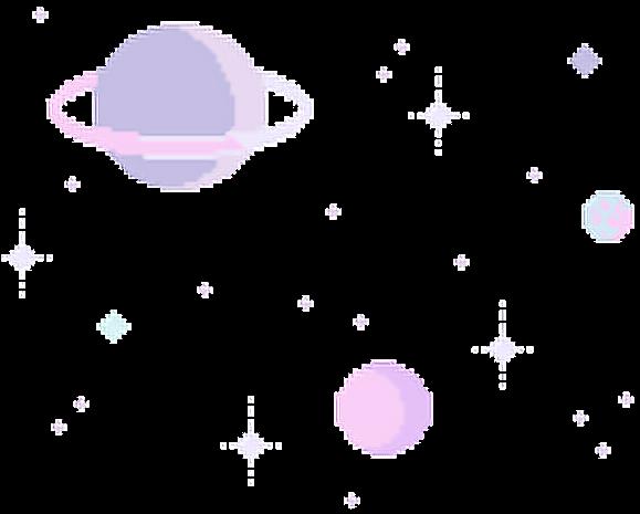 Planet Stars Universe Galaxy Pixel Tumblr Purple Pink 8 Bit Background Full Size Png Download Seekpng