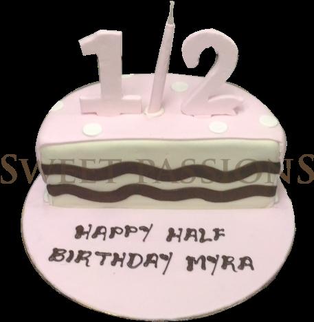 Stupendous Half Birthday Cake Birthday Cake Full Size Png Download Seekpng Funny Birthday Cards Online Drosicarndamsfinfo