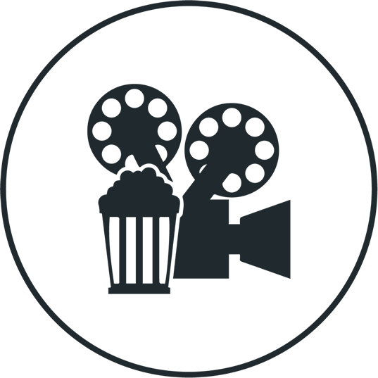 Cine Cinema Icon Full Size Png Download Seekpng