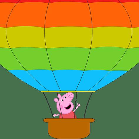 Peppa Pig Balao Png Balao Peppa Pig Png Full Size Png Download