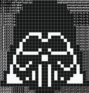 Darth Vader Pixel Art Dessin Pixel Dark Vador Full Size