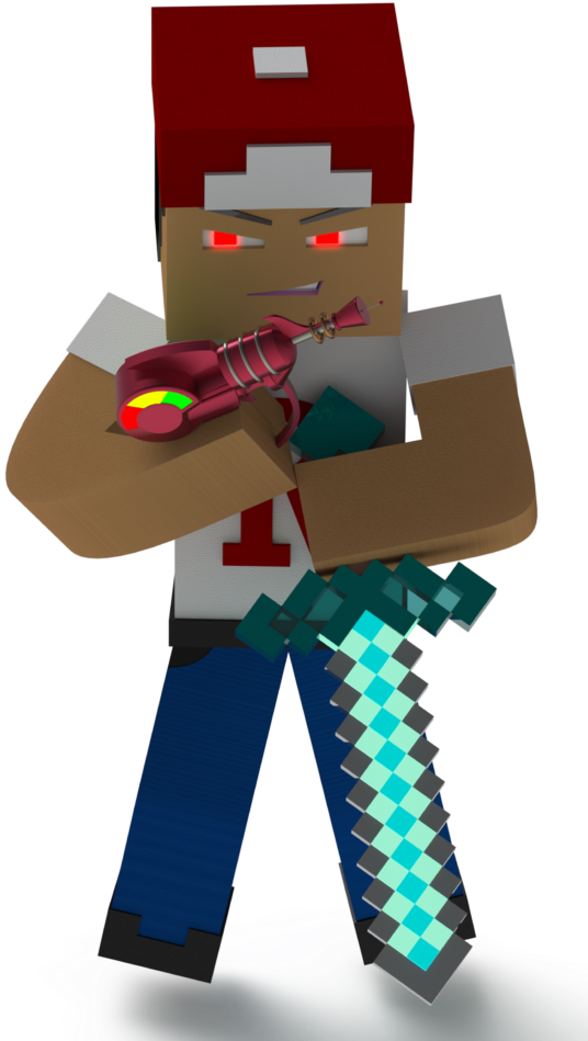 Minecraft In Real Life Fictional Character Full Size Png