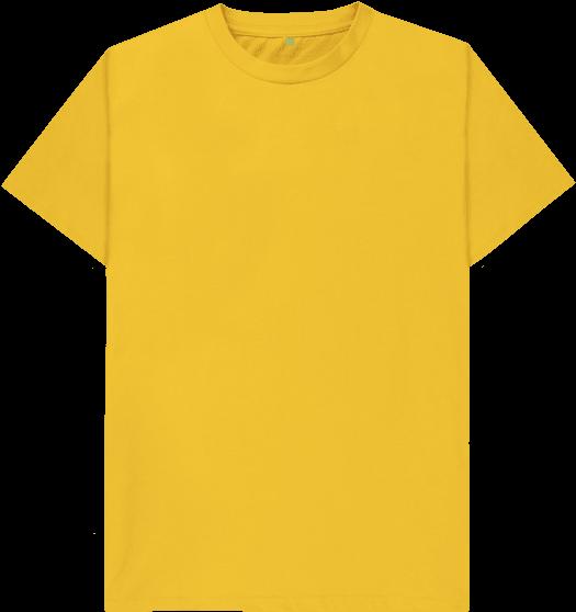 Mustard Plain Organic T Shirt Plain Yellow Polo Shirt Full Size Png Download Seekpng