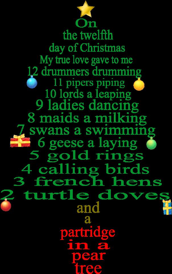 The 12 Days Of Christmas Lyrics.Pics Photos Days Christmas Lyrics Printable 12 Days Of