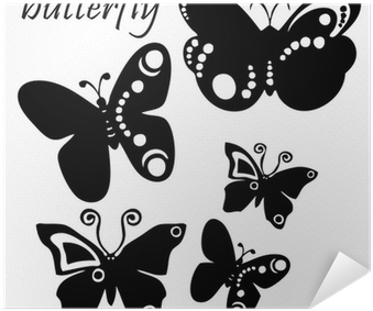 Tattoo Illustration Black And White Butterflies Poster Mariposas A