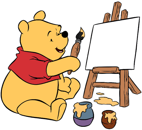 New Painting Ursinho Pooh Para Colorir Full Size Png Download