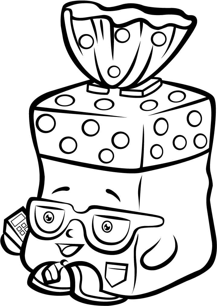 Shopkins Season 1 Bread Head Coloring Page - Shopkins Coloring Pages Full  Size PNG Download SeekPNG