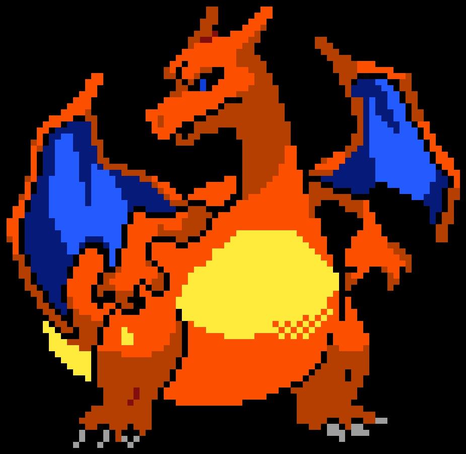 Charizard - Charizard Pixel Art Maker | Full Size PNG Download | SeekPNG