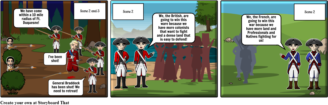 Scenes From French And Indian War - Cartoon | Full Size PNG Download