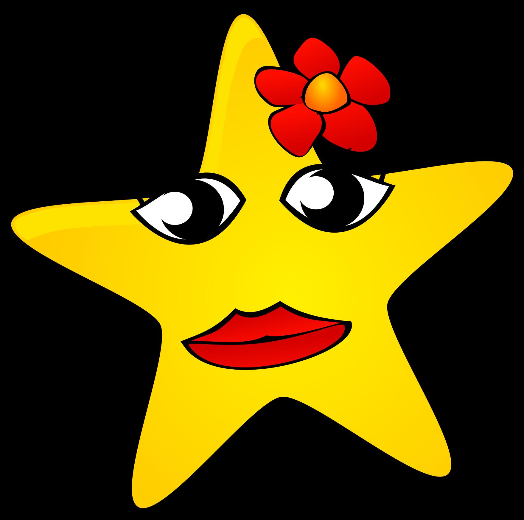Картинка звездочка прикольная