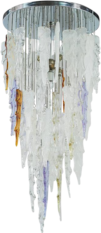Lovely Outstanding Mid Century Modern Murano Icicle Icicle