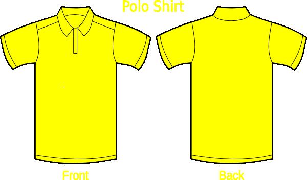 Plane Yellow T Shirt Template Polo Shirt Plain Yellow Full Size Png Download Seekpng