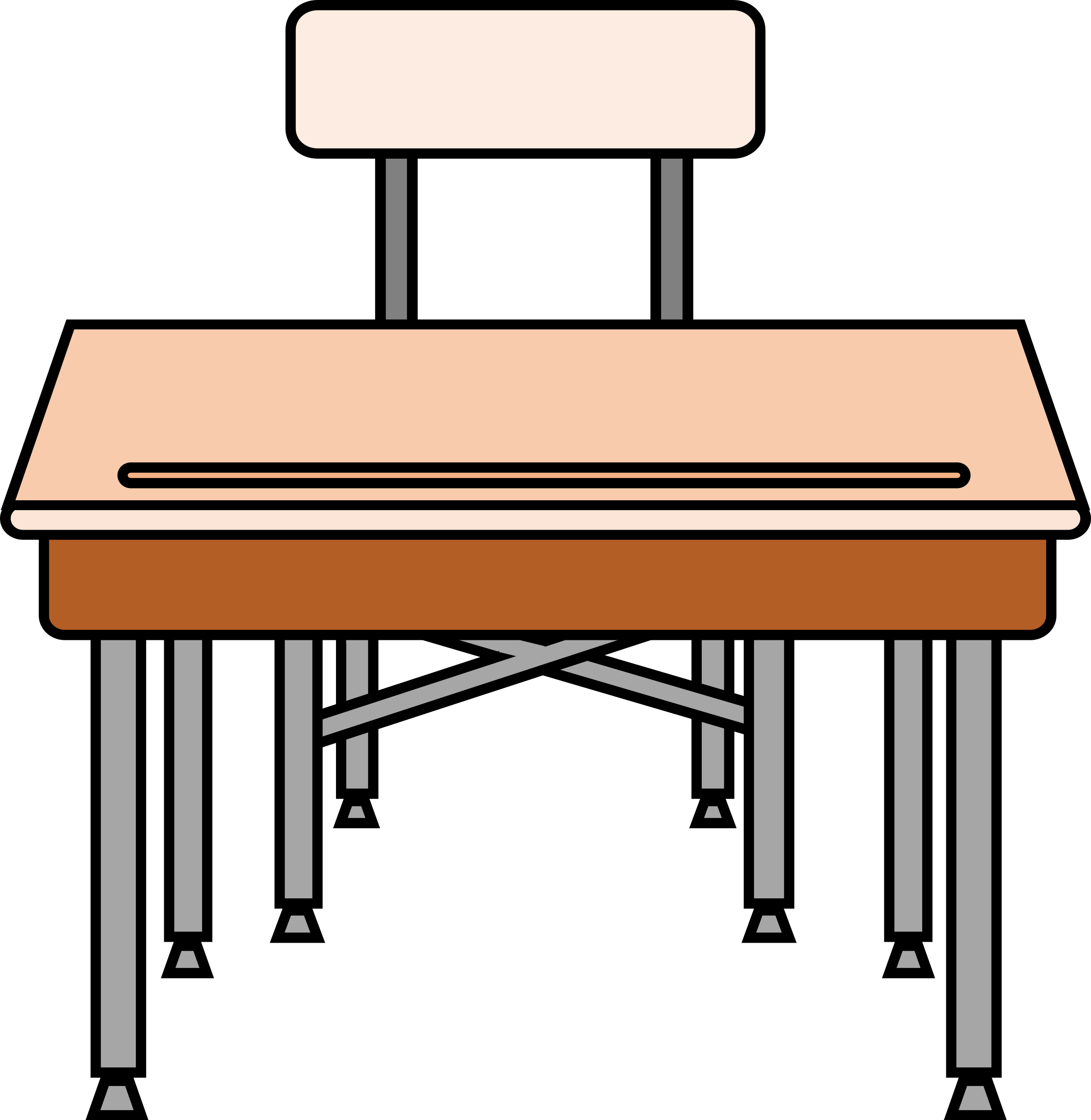 Student Desk Chair Clipart Desk Clipart Full Size Png Download Seekpng