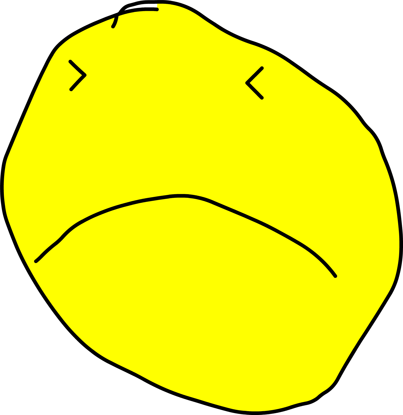 Yellow Face Omg - Bfb Yellow Face Body | Full Size PNG Download