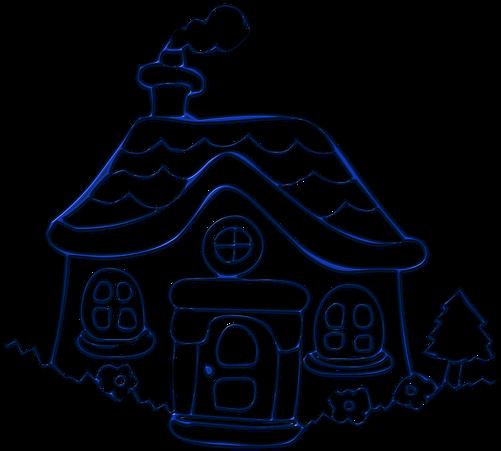 House Cottage Building Housing Village Maison Clipart Noir Et Blanc Full Size Png Download Seekpng