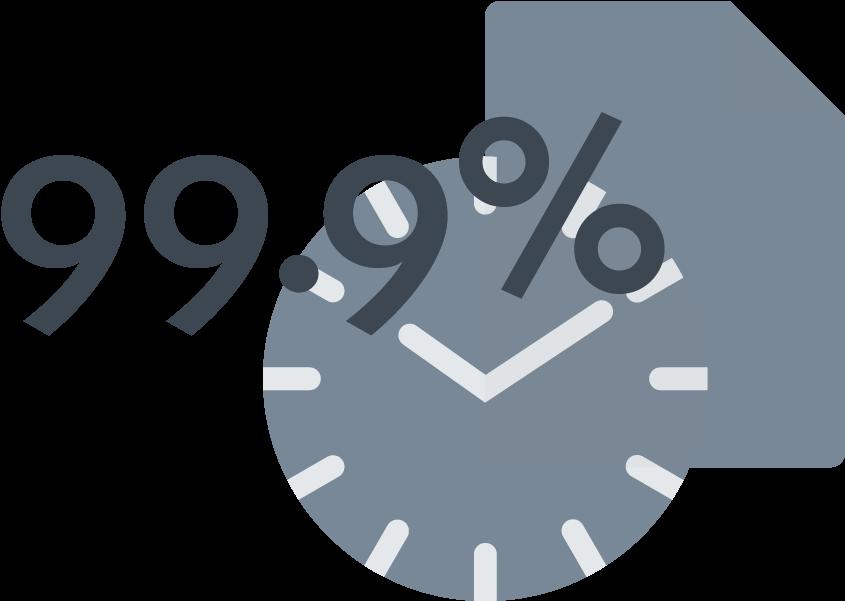 Uptime Guarantee Png Image - 99.9 Uptime   Full Size PNG Download   SeekPNG