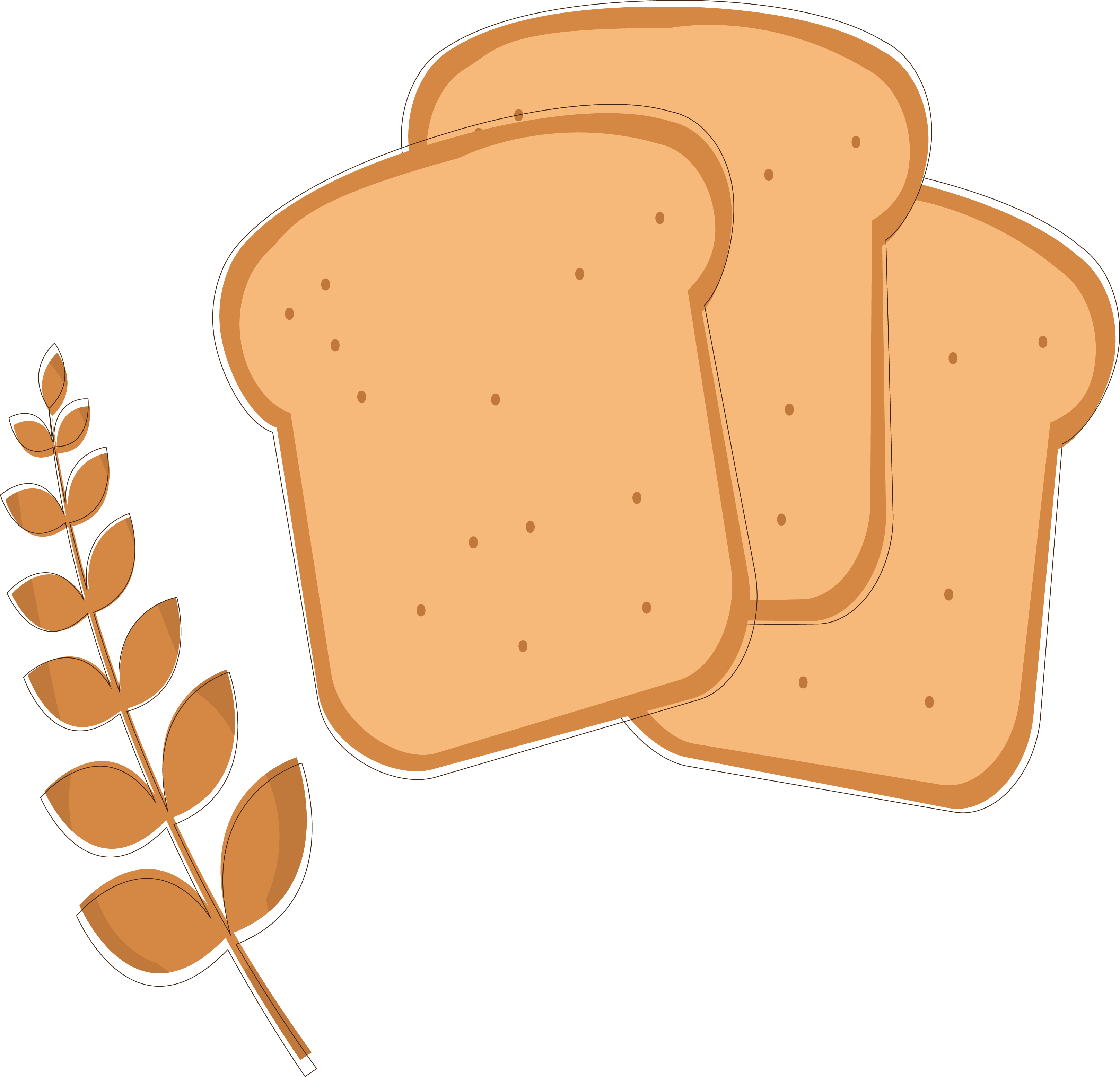 clip freeuse stock toast bread clip art fine design - toast clipart png |  full size png download | seekpng  seekpng