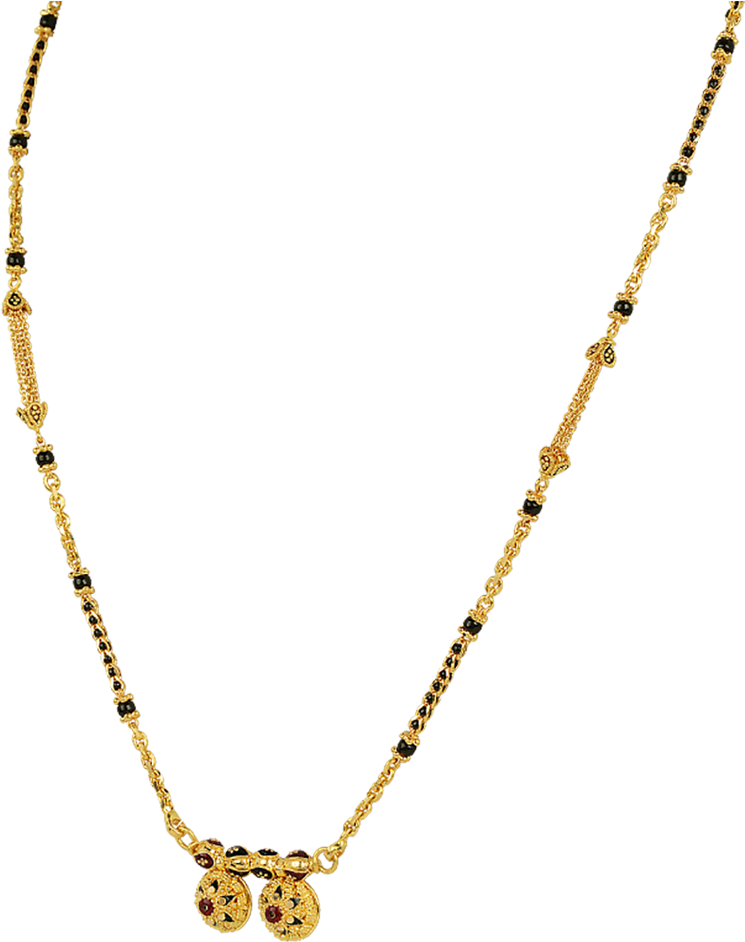Orra Gold Mangalsutra Designs Necklace Full Size Png