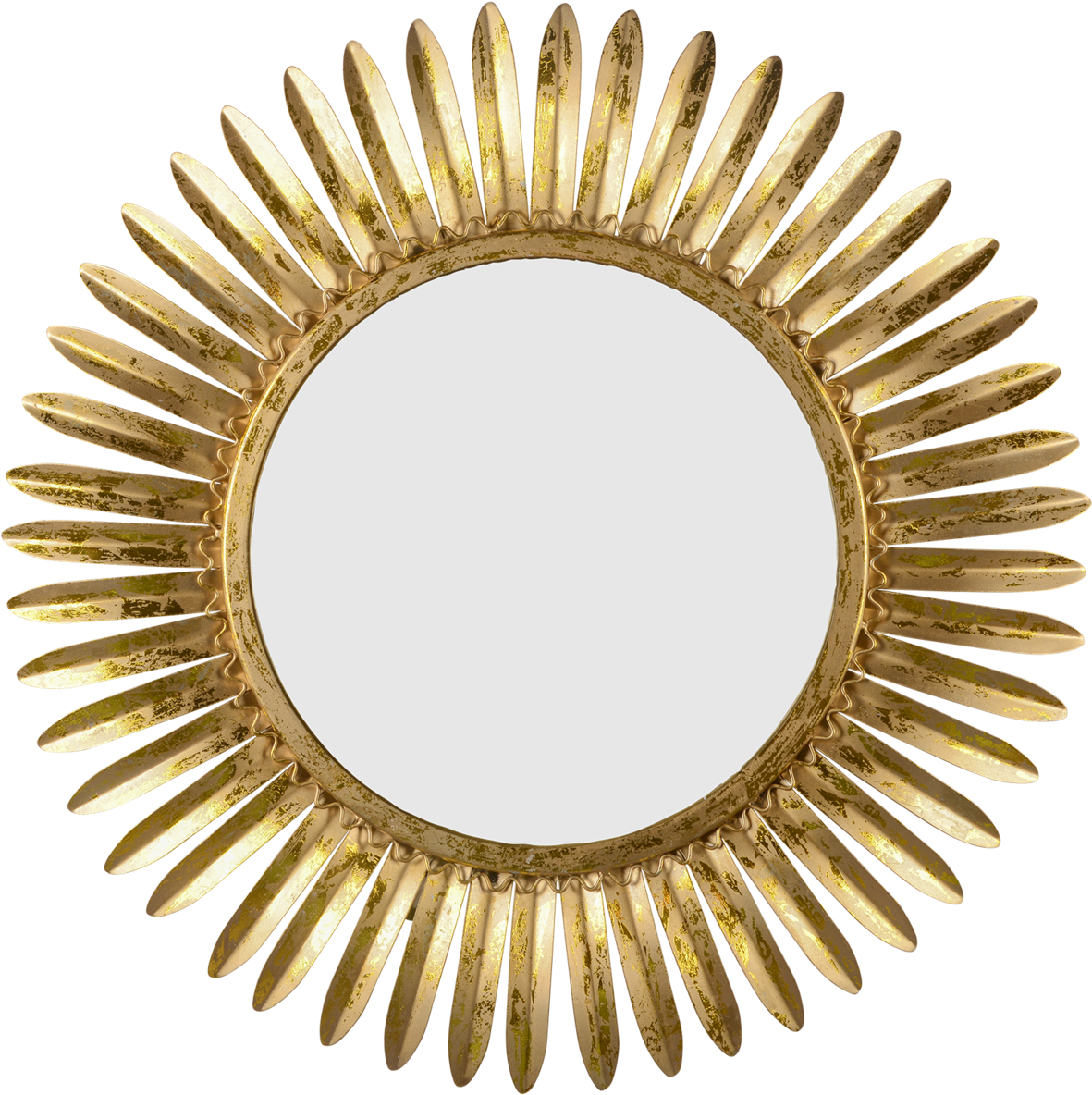 Mirror Rays Of Gold Shadow Vintage Rattan Hand Mirror Full Size Png Download Seekpng