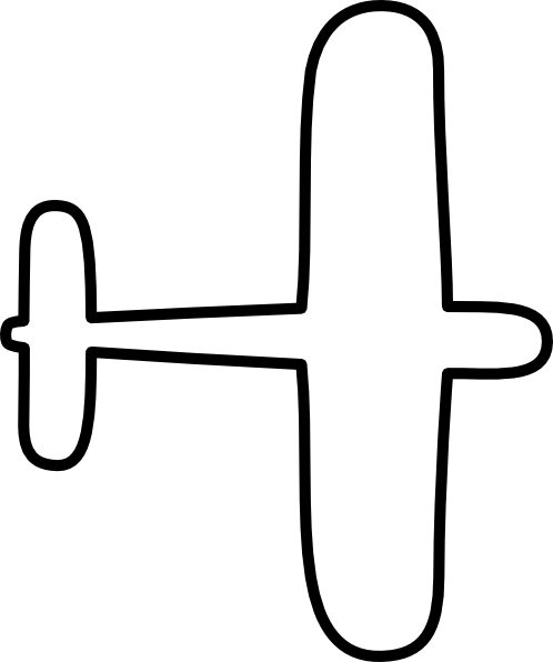 easy simple airplane drawing
