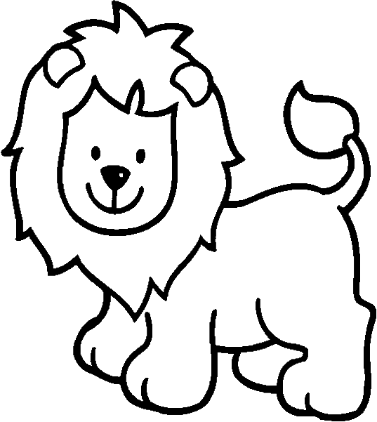 Lion Outline Coloring Page Free Animales Leon Para