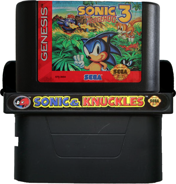 Sonic 3 Knuckles Sonic The Hedgehog 3 Cartridge Full Size Png Download Seekpng