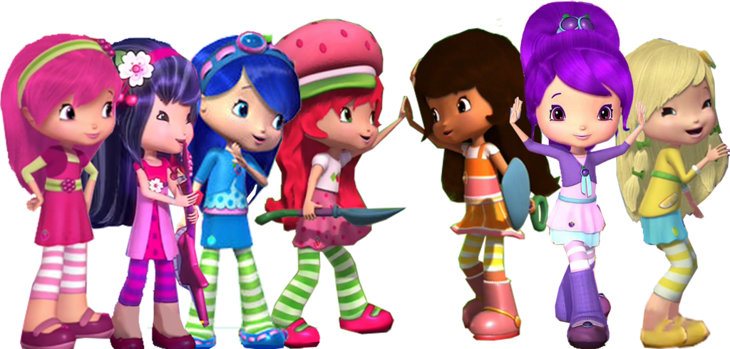 Afternoon Of Friends Strawberry Shortcake And Friends Png Full