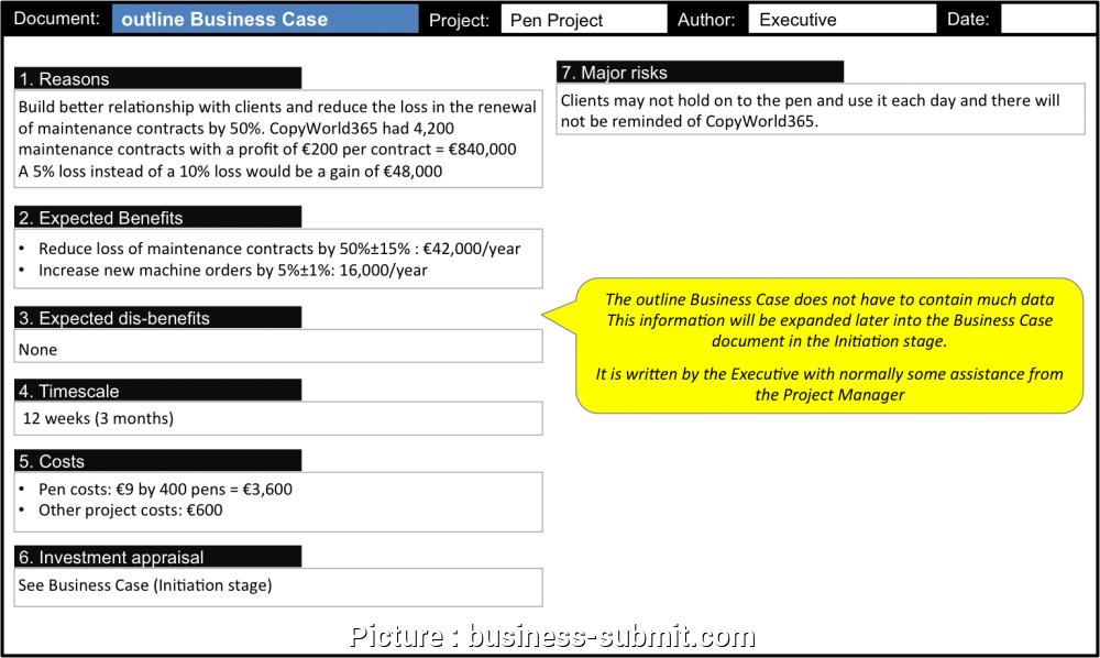 Business Case Format In Excel New Project Business Outline Business Case Template Full Size Png Download Seekpng