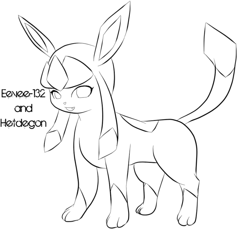 Pokemon Glaceon Coloring Pages Sketch Coloring Page Line Art Full Size Png Download Seekpng