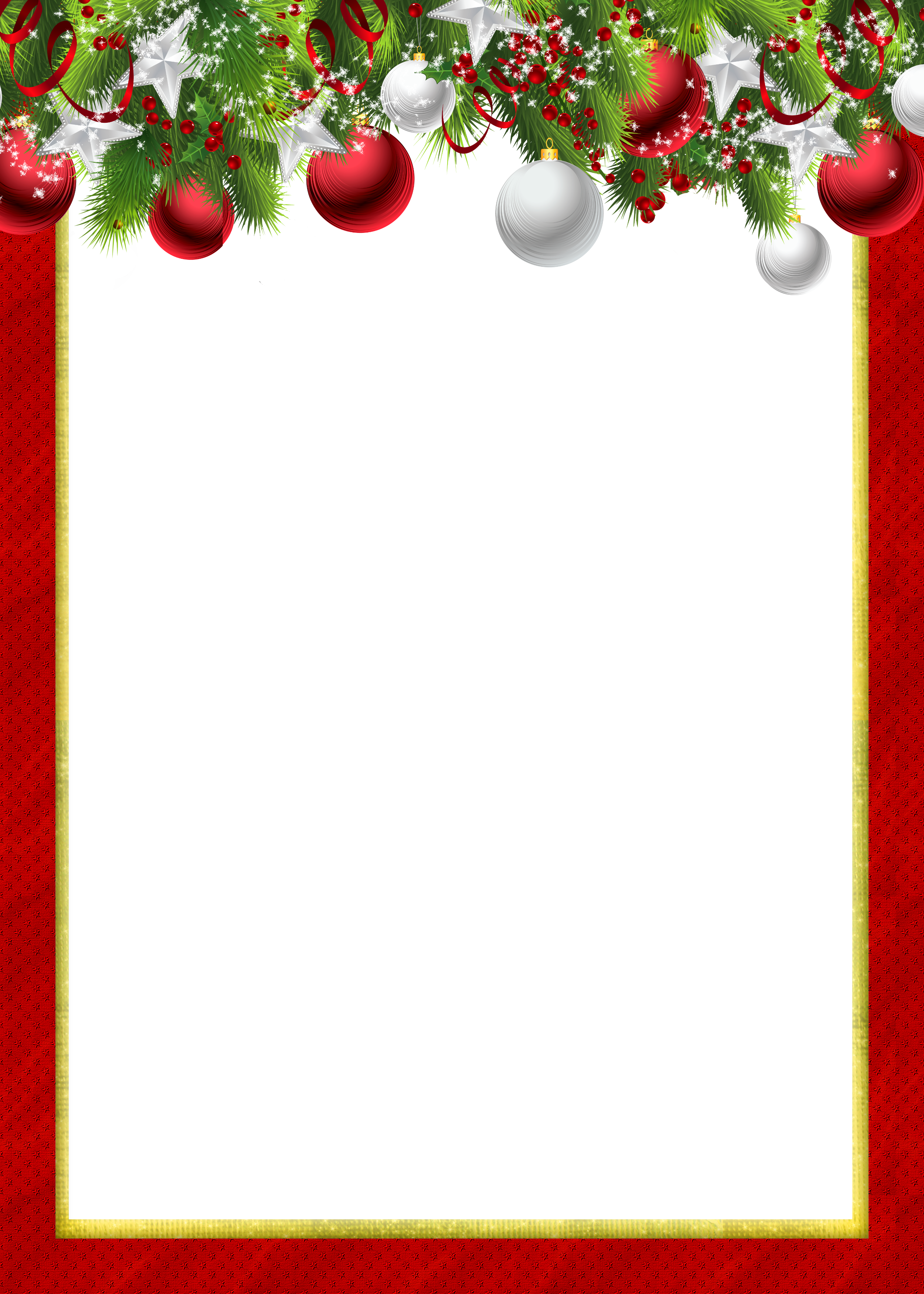 Image Royalty Free Stock Christmas Picture Frame Clipart Christmas Frames And Borders Red Full Size Png Download Seekpng