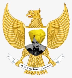 S Turban Center Garuda Pancasila Tile Coaster Png Image Transparent Png Free Download On Seekpng