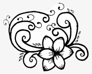 Doodle Drawing Flower Blackandwhite Simple Like4like Drawing Png Image Transparent Png Free Download On Seekpng