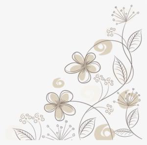 Vinilo Decorativos Flores Tallo Fino Dibujo Flores Blancas Png Png