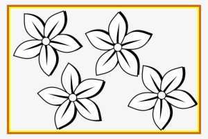 Best Collection Of Flower Png High Quality Black And White Clip