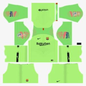 b6da3118283 Barcelona Goalkeeper Home Kit 2018-19 Dream League - Dream League Soccer  Kits Chelsea 2019