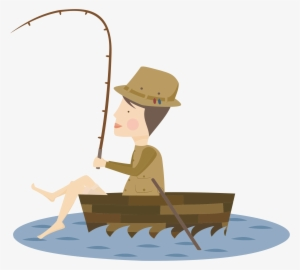 Man Fishing From Boat Clipart Fisherman Png Png Image Transparent Png Free Download On Seekpng