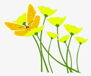 Orange Flower At Clker Yellow Flowers Clip Art Png Image