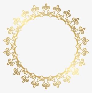 a147bbb99380 Round Gold Border Frame Transparent Clip Art Image - Transparent Background  Golden Border Png