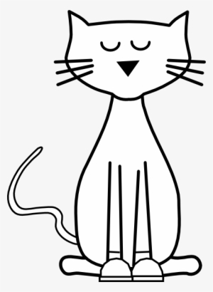 Pete Cat Shoes Outline Clip Art At Clker Cat Cartoon Black And White Png Image Transparent Png Free Download On Seekpng