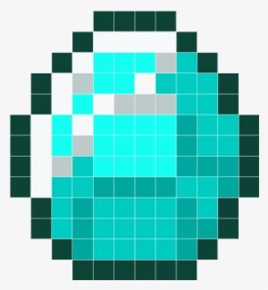 Diamond Hama Minecraft Minecraft Pixel Art Pixel Minecraft Diamond Pixel Art Png Image Transparent Png Free Download On Seekpng