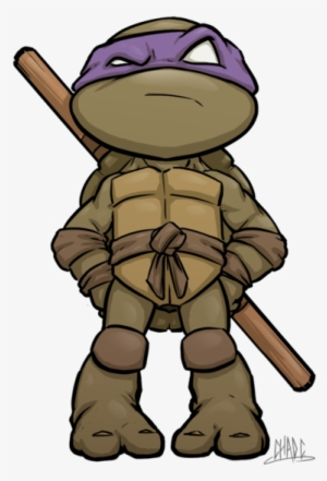 Mini Ninja Turtle Donny Fan Art Tmnt Donatello Chibi Png