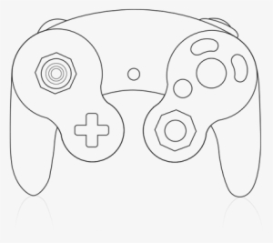 Game - Custom Gamecube Controller Template PNG Image