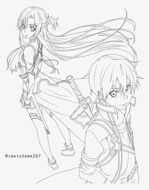Pioneering Kirito And Asuna Coloring Pages Lavishly Is A Web That ... | 382x300