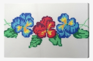 Cross Stitch Sunflower Machine Embroidery No Punto De Cruz