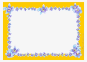 blue flowers border png images png cliparts free