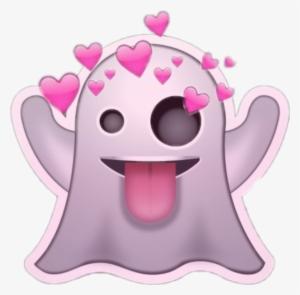 Emoji Ghost Heart Stickeremoji Tumblr Emojiedit Ghost Emoji Png